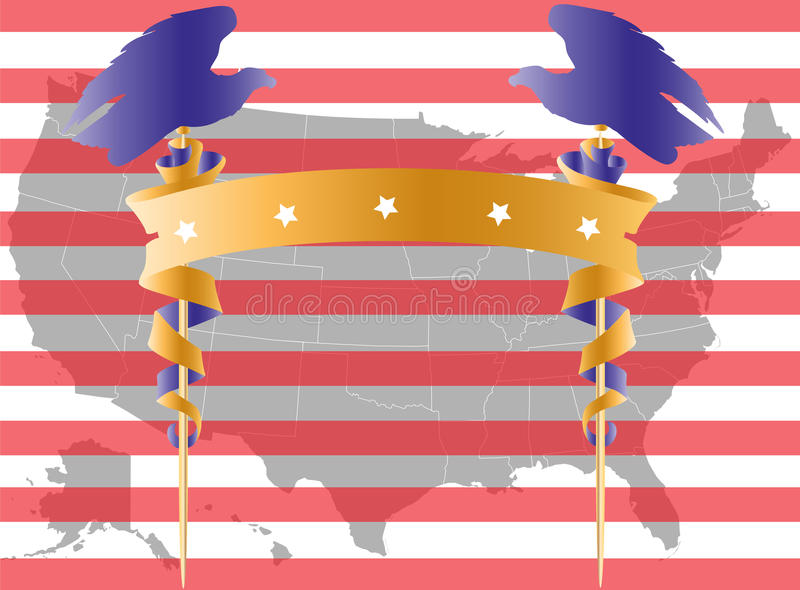 amdflaggaöversikt USA vektor illustrationer