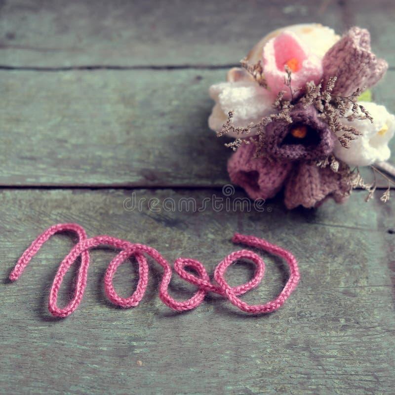 Ame el fondo, día de San Valentín, día de la madre, diy imagen de archivo