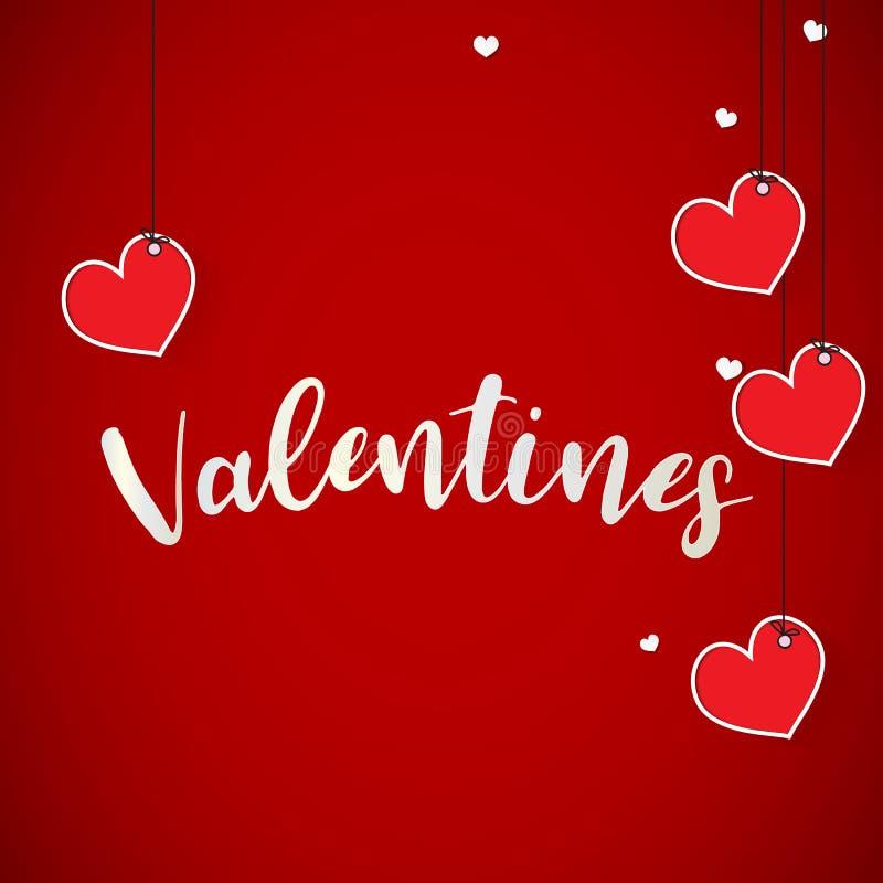 ame el fondo del día de tarjetas del día de San Valentín con el fondo del día del corazón de los globos con el partido; stock de ilustración
