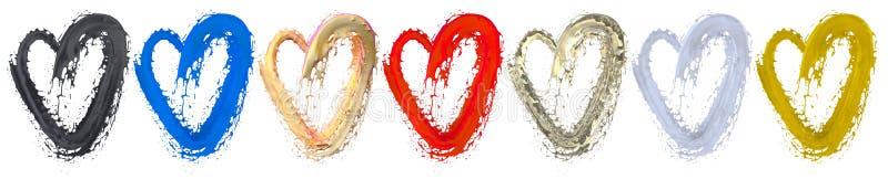 Ame la pintura en icono del corazón para pintar el fondo imagen de archivo libre de regalías