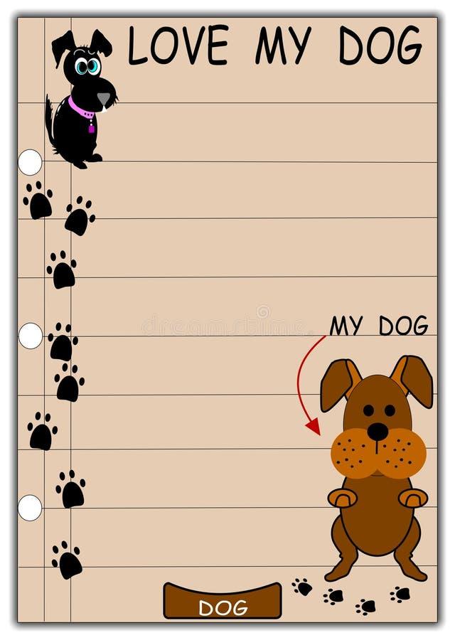 Ame meu cão ilustração stock