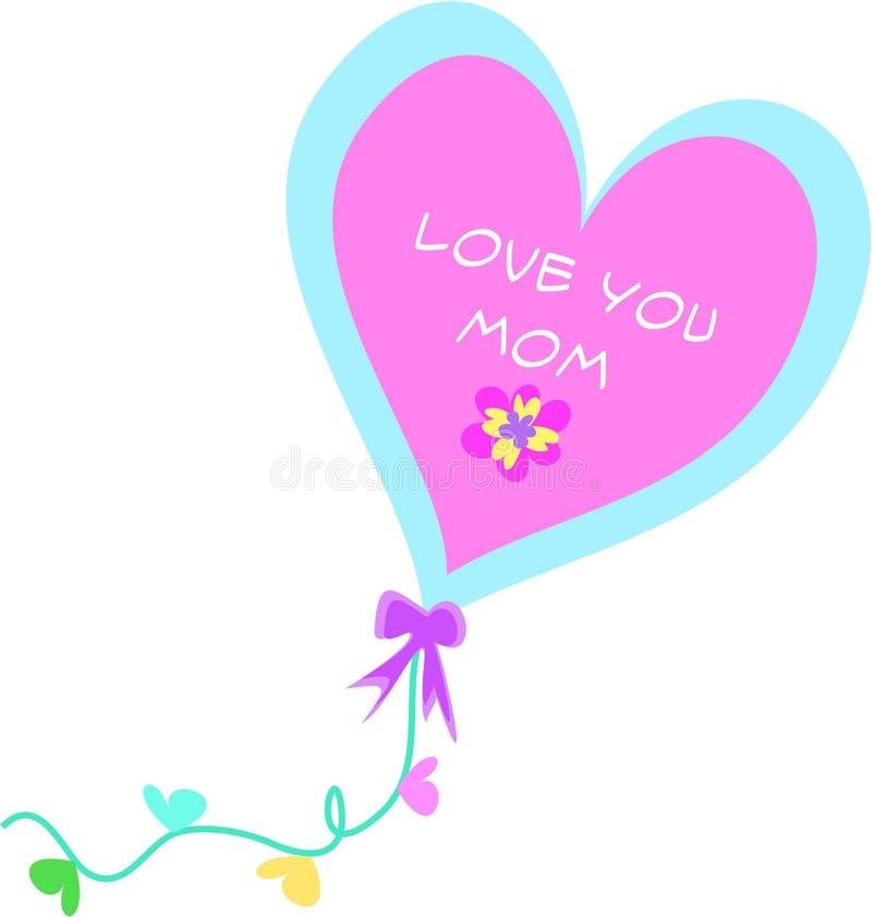 Ame-o balão decorativo da mamã ilustração royalty free