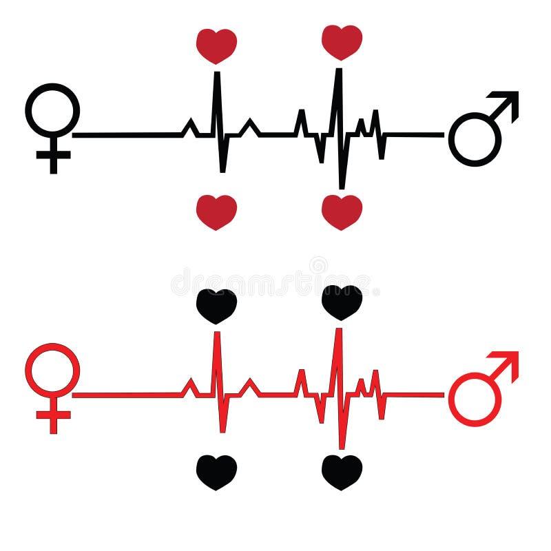 Ame-o a e frequência cardíaca ilustração royalty free