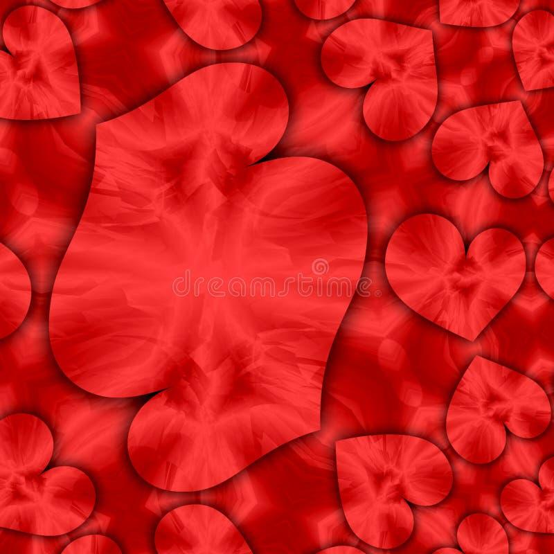 Ame o estilo do mosaico dos corações, cartão do dia de Valentim ilustração royalty free