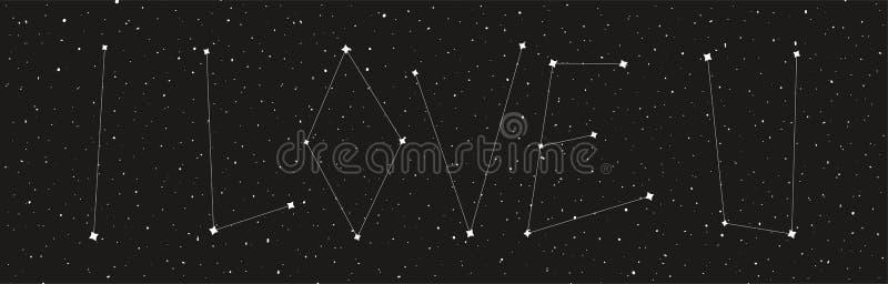 Ame-o fundo do céu noturno ilustração do vetor