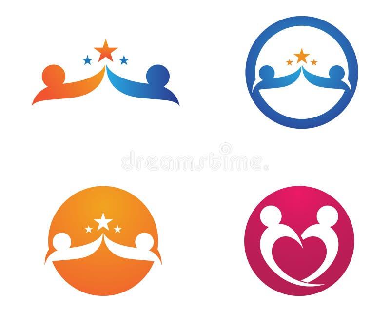 Ame o logotipo da família e os ícones app do molde do vetor dos símbolos ilustração royalty free