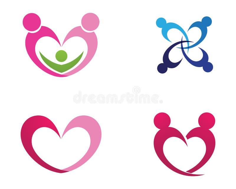Ame o logotipo da família e os ícones app do molde do vetor dos símbolos ilustração do vetor