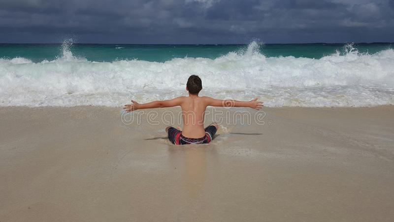 Ame a praia fotos de stock royalty free