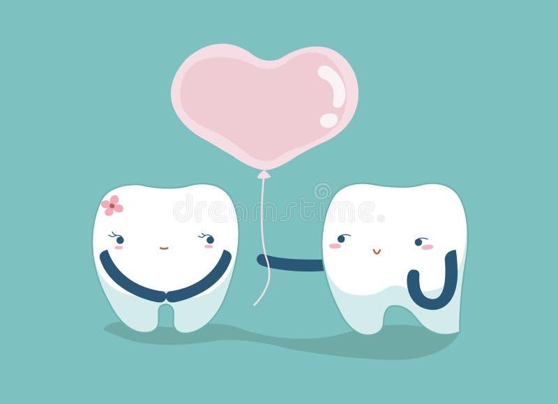 Ame seus dentes, conceito dental do amante ilustração stock