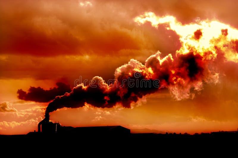 Ameaça do aquecimento global fotografia de stock