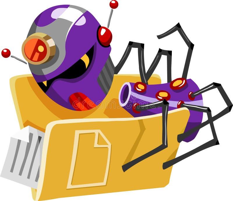 Ameaça do computador do vírus ilustração do vetor