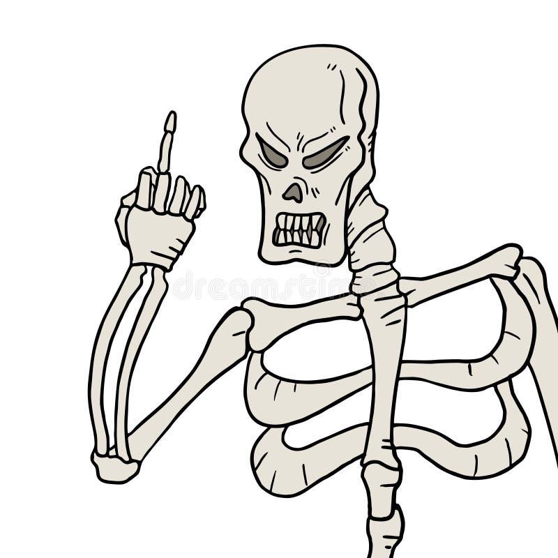 Ameaça do crânio ilustração stock