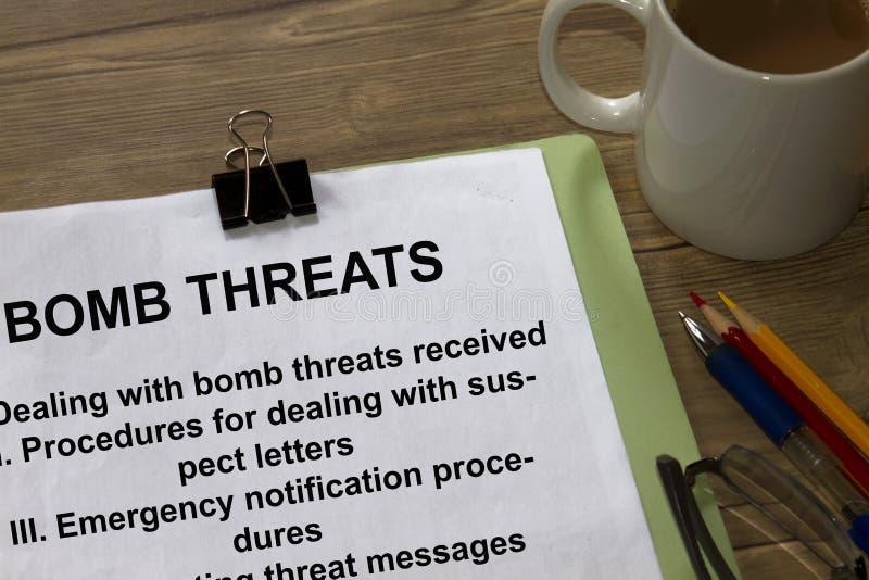 Ameaças da bomba imagens de stock