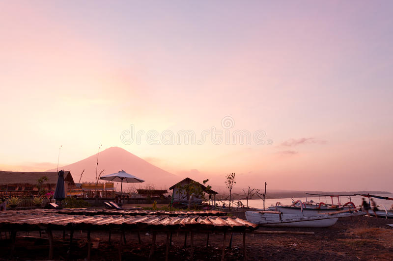 Amed, Bali stock afbeelding
