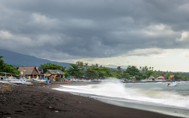 Amed Beach in Bali, Indonesia royalty free stock photography