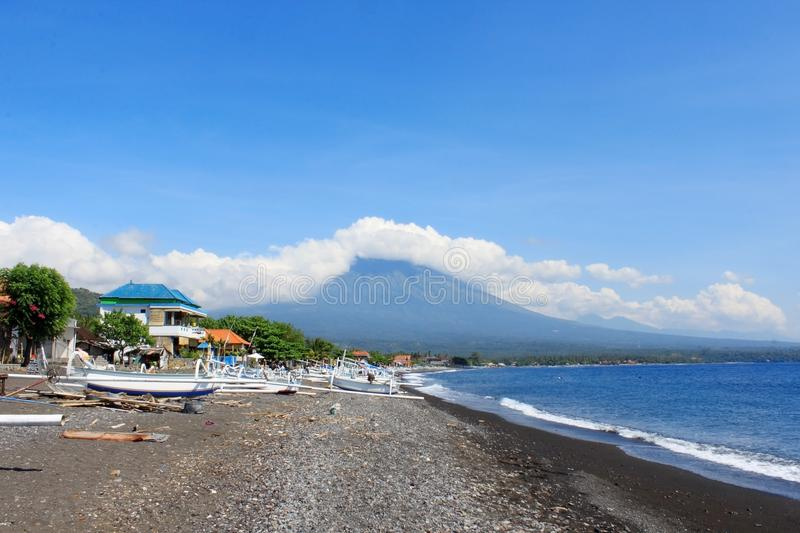 Amed Beach in Bali, Indonesia royalty free stock image