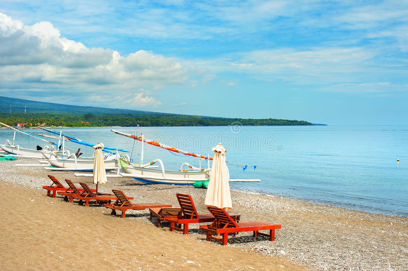 Amed beach, Bali island, Indonesia royalty free stock photography
