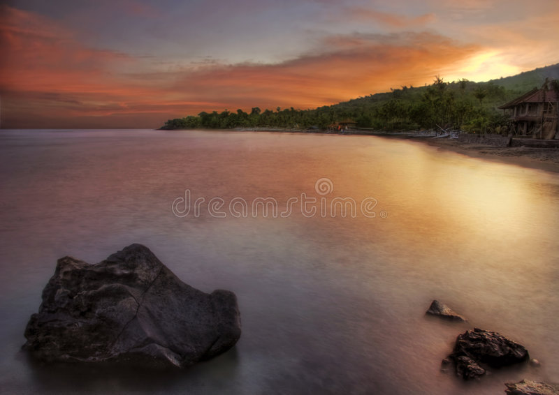 Amed evening royalty free stock photo