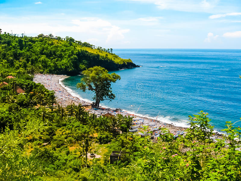 Amed - a small village on the northeast of Bali. royalty free stock photo