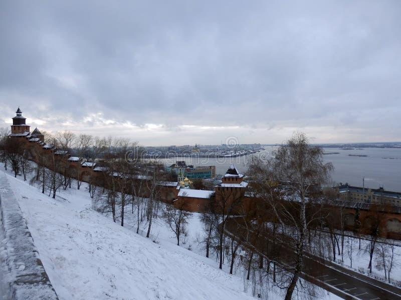 Ameias dentro do Kremlin de Nijni Novgorod imagens de stock