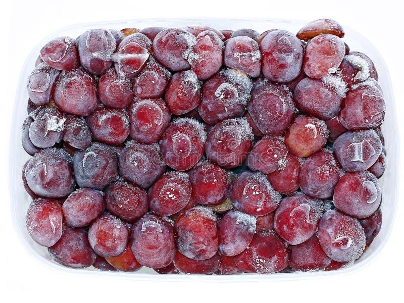 Ameixa congelada fresca do vermelho dos frutos foto de stock royalty free
