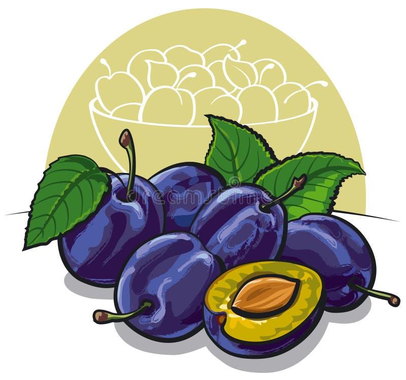 Download Ameixas maduras ilustração stock. Ilustração de dieting - 26508278