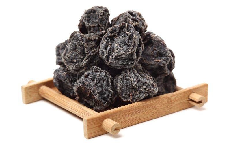 Ameixas pretas secadas imagens de stock