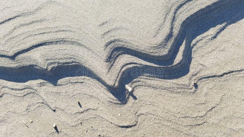 Ameland, κύματα της άμμου στοκ φωτογραφία με δικαίωμα ελεύθερης χρήσης
