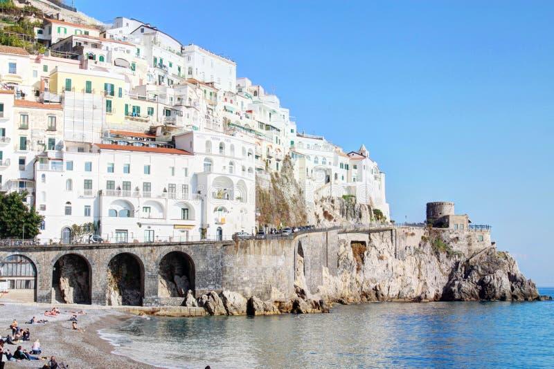 Amelfi海岸在意大利 免版税库存图片