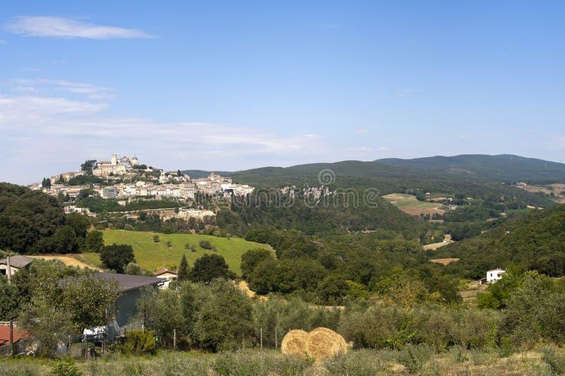 Amelia (Úmbria, Italy) - vista panorâmico imagem de stock