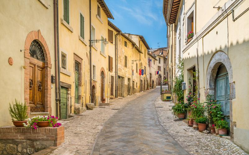 Amelia, ancient and beautiful town in the Province of Terni, Umbria, Italy. royalty free stock photography