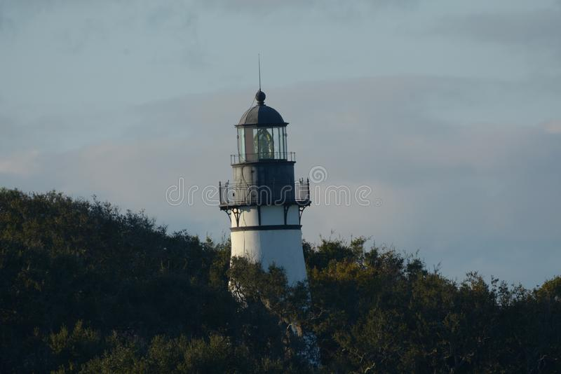 The Amelia Island lighthouse was built in 1839 to replace an even older structure. The City of Fernandina Beach received possession of the Amelia Island royalty free stock photo