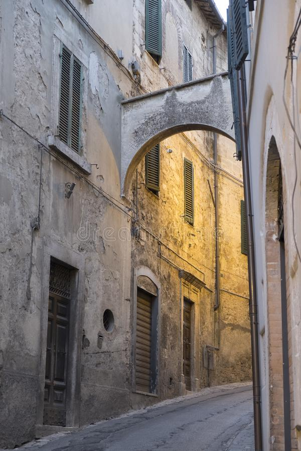 Amelia Umbria, Italia: città storica fotografie stock libere da diritti