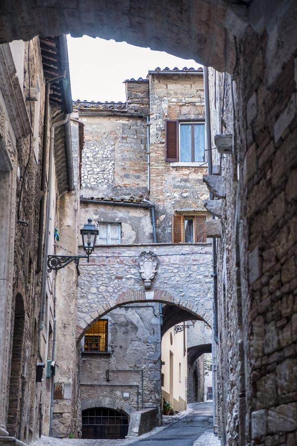 Amelia Umbria, Italia: città storica fotografie stock