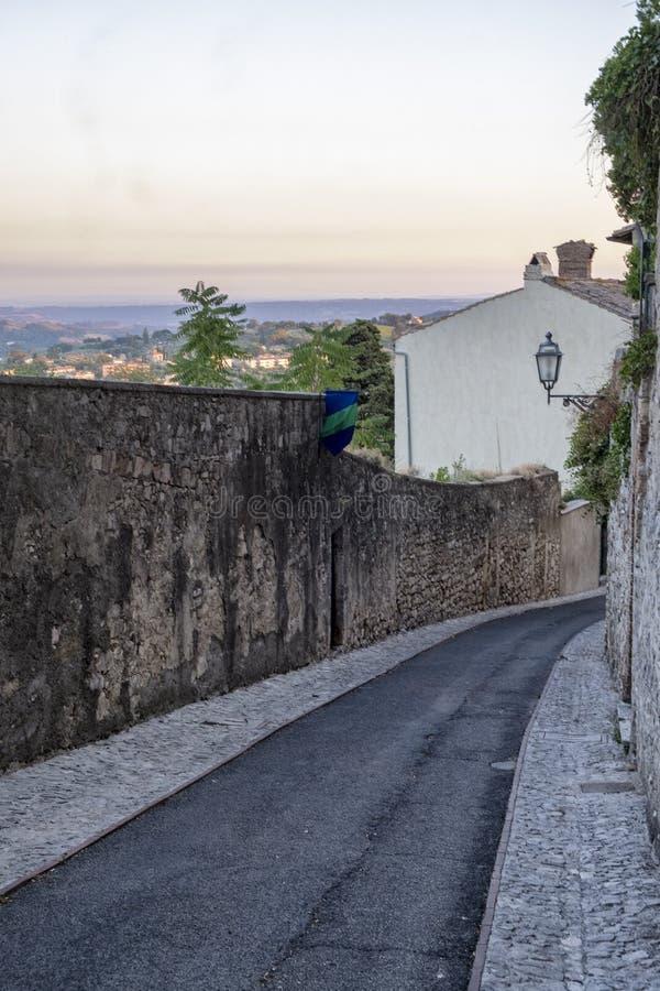 Amelia Umbria, Italia: città storica immagine stock libera da diritti