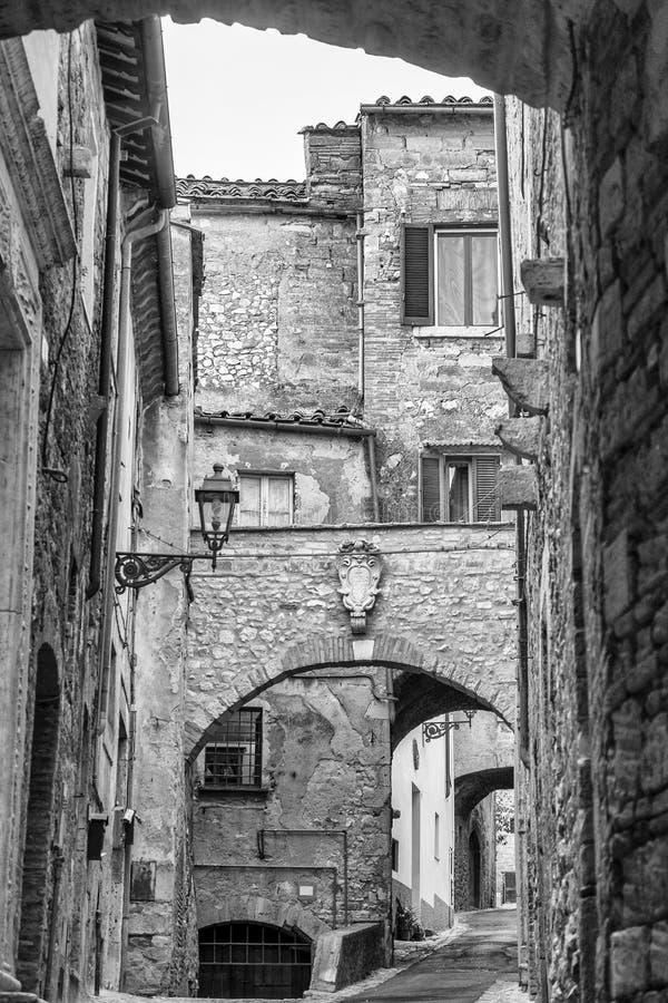 Amelia Umbria, Italia: città storica immagini stock libere da diritti