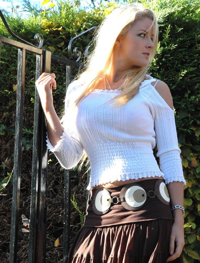 Download Amelia9 stock photo. Image of fashion, female, blond, skirt - 337942