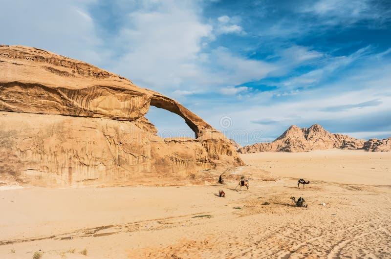 amels de ½ de ¿ d'ï dans le beau paysage incroyable dans le désert jordanien images libres de droits