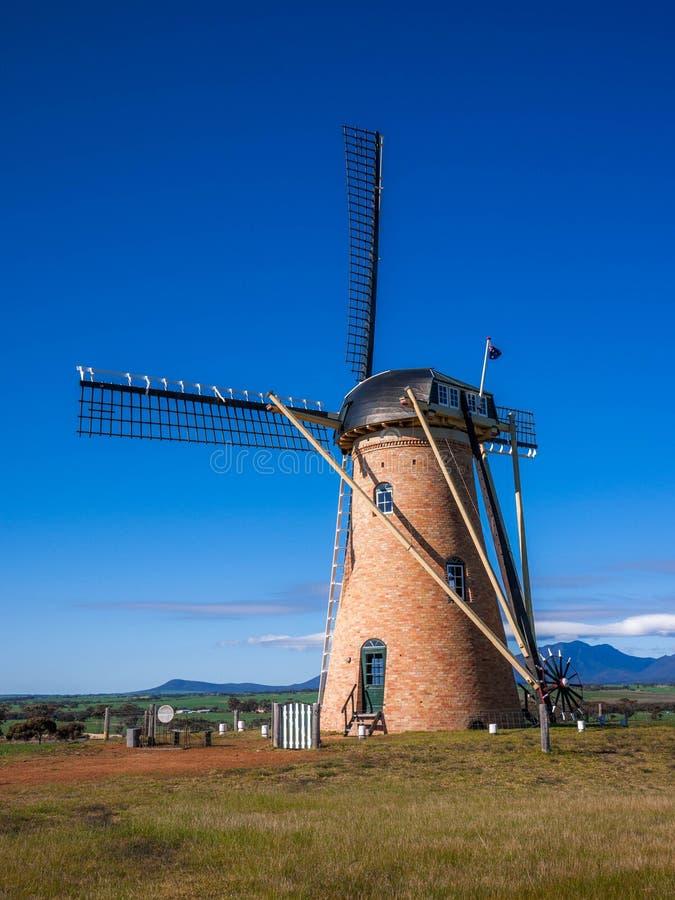Amelup Lily Dutch Windmill i Australien arkivfoton