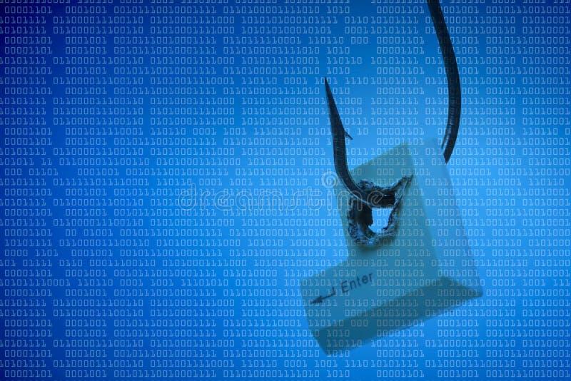 Amenaza del ordenador fotografía de archivo libre de regalías