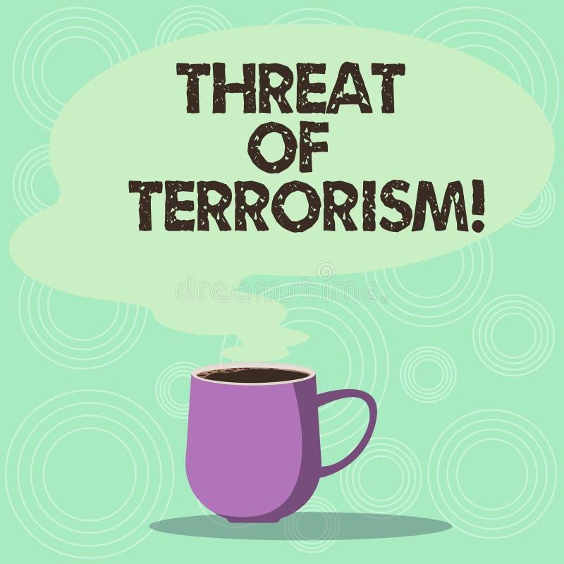 Amenaza del texto de la escritura del terrorismo La violencia y la intimidación ilegales del uso del significado del concepto con ilustración del vector