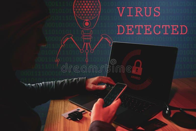 Amenaza del virus de Internet fotografía de archivo libre de regalías
