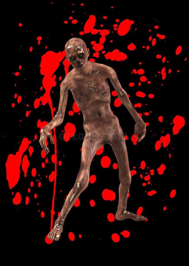 Amenaza del zombi stock de ilustración