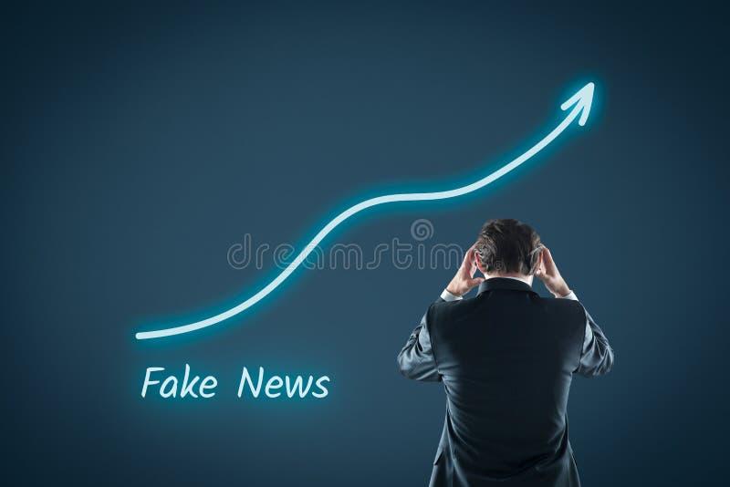 Amenaza falsa de las noticias foto de archivo
