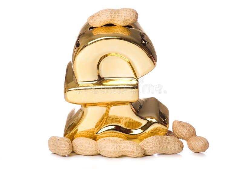 Amendoins da economia fotos de stock royalty free