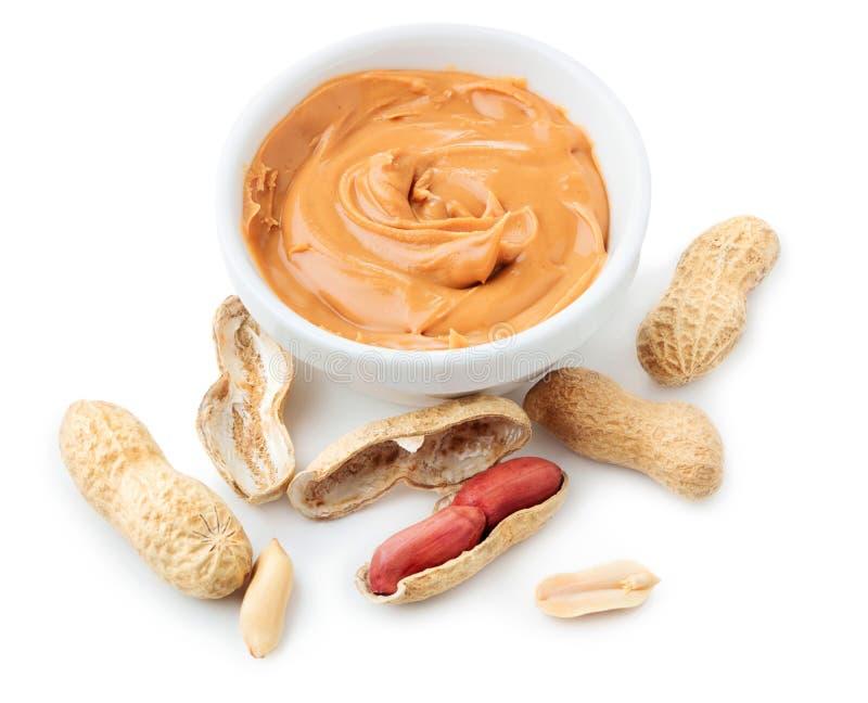 Amendoins no branco fotos de stock