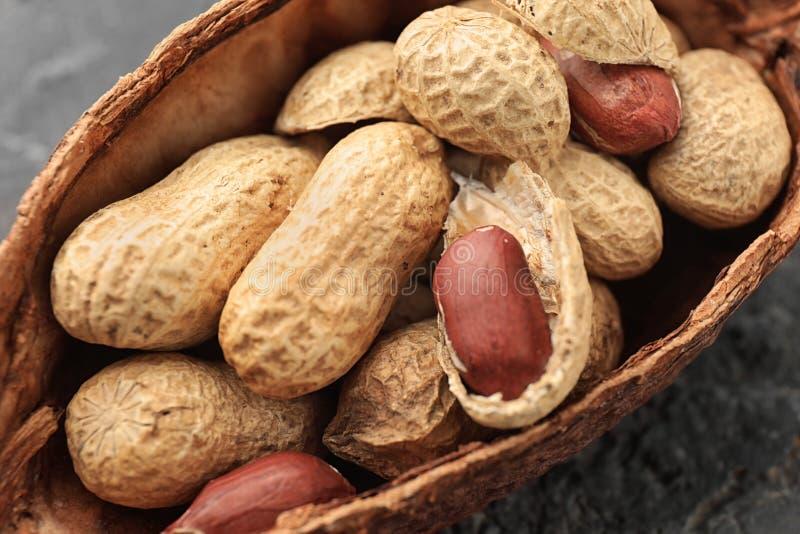 Amendoins saborosos, close up fotos de stock