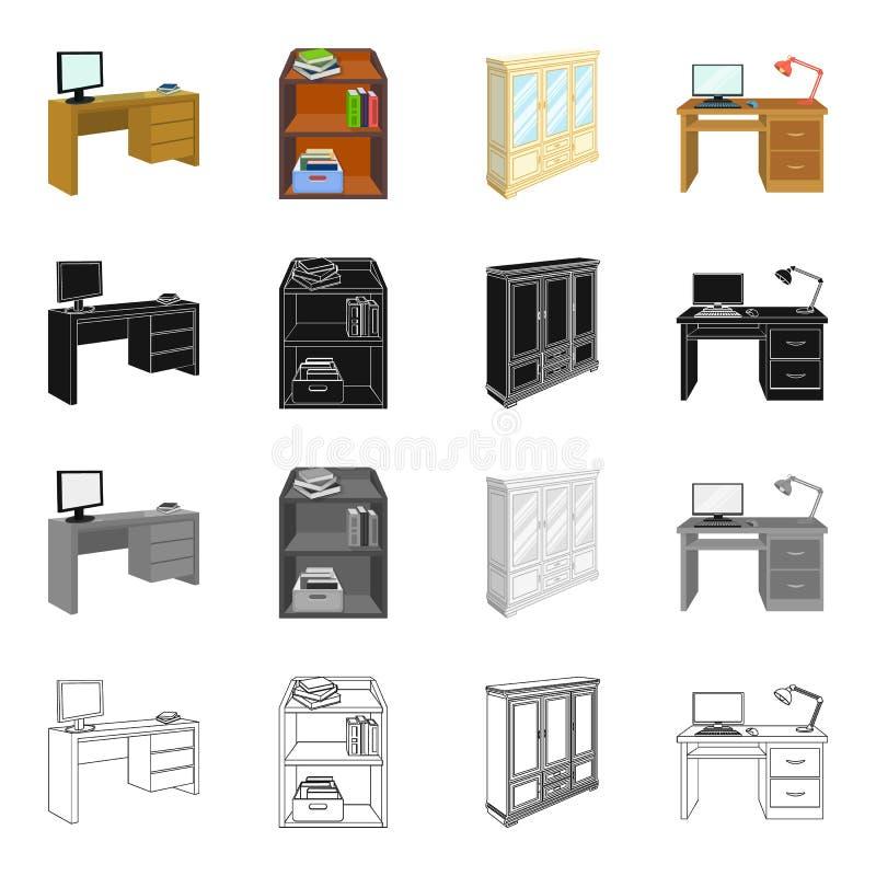 Amenidades del mobiliario ilustración del vector