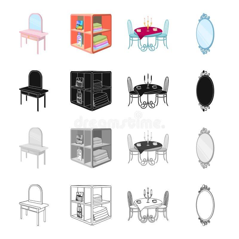 Amenidades del mobiliario libre illustration