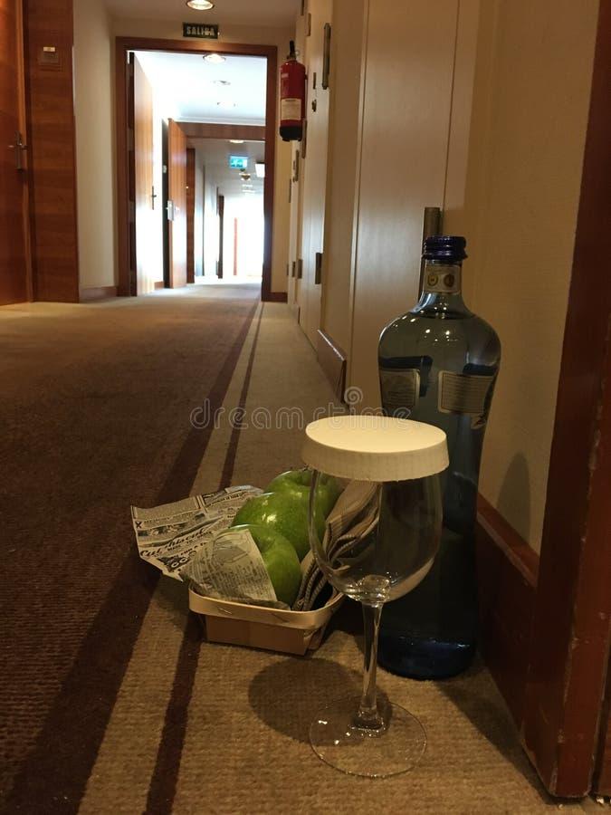 Amenità del corridoio VIP dell'hotel immagine stock